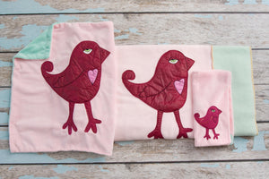 EXCLUSIVE Bambinos Appliqued Bird Blanket