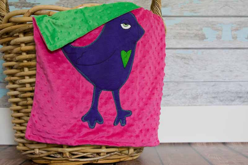Gracey Jayne Appliqued Bird Lovie