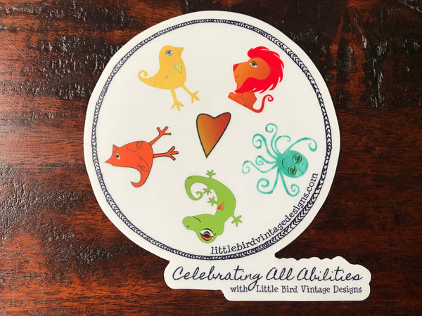 Celebrating All Abilities Die Cut Sticker