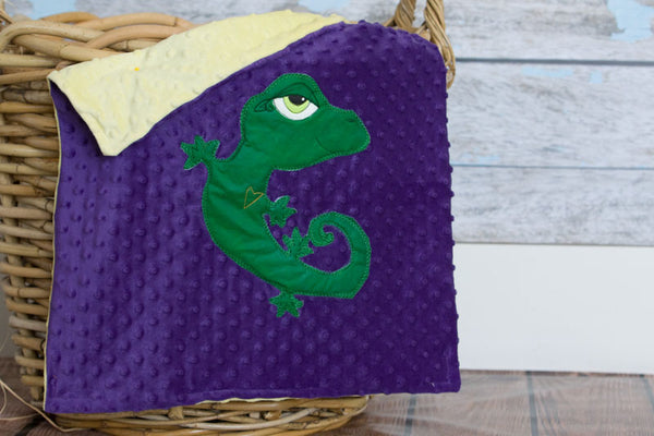 Kalli Appliqued Gecko Lovie