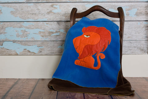 Leo Appliqued Lion Blanket