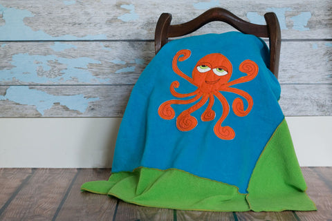 Maximus Appliqued Octopus Blanket