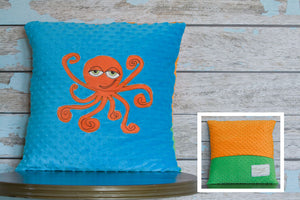 Maximus Appliqued Octopus Minky Pillow