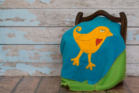 McDade Appliqued Bird Blanket