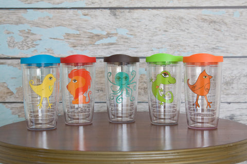 Set of 5 Tervis (16 oz OR 24 oz)