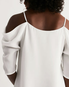 Open Shoulder A-Line Dress