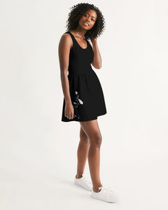 Scoop Neck Skater Dress Black Darya Logo
