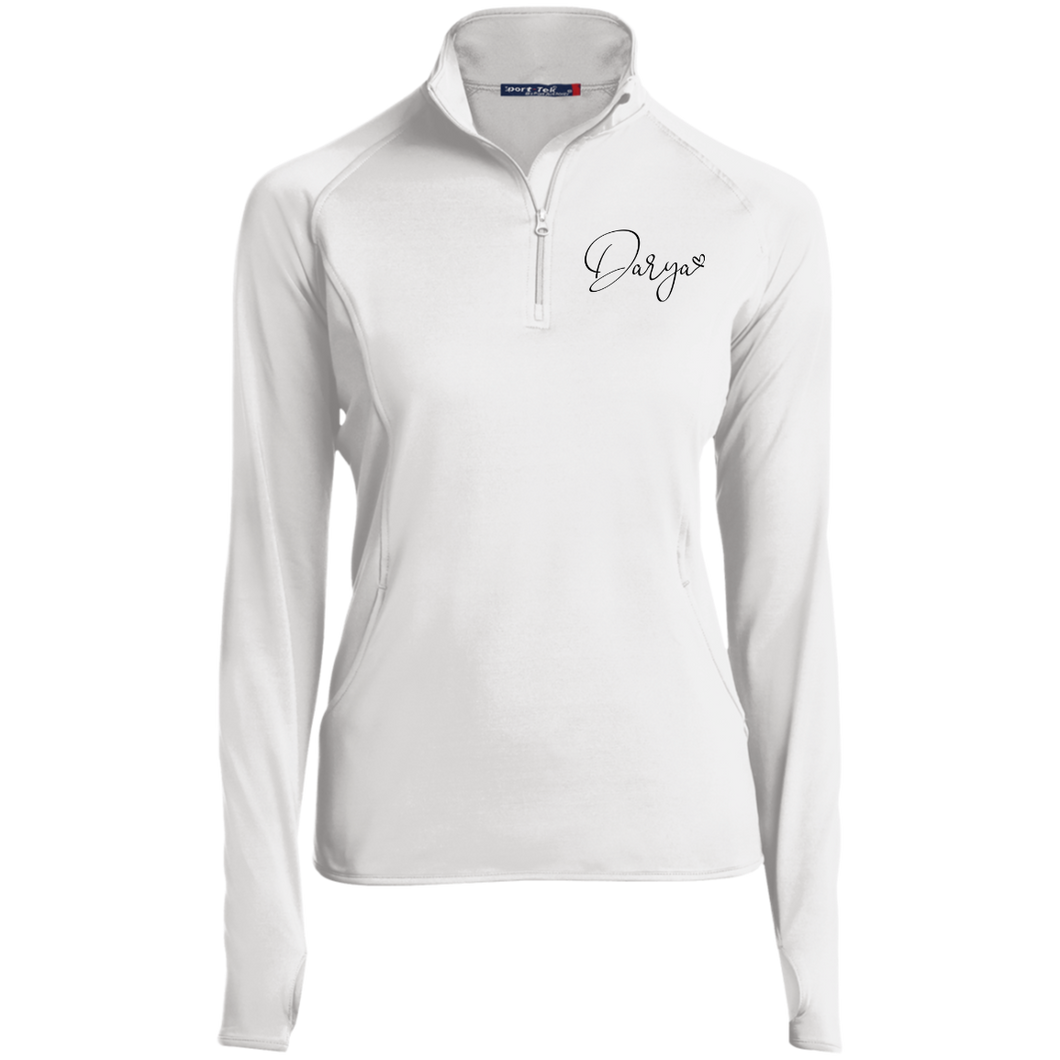 Women's 1/2 Zip Performance Pullover White