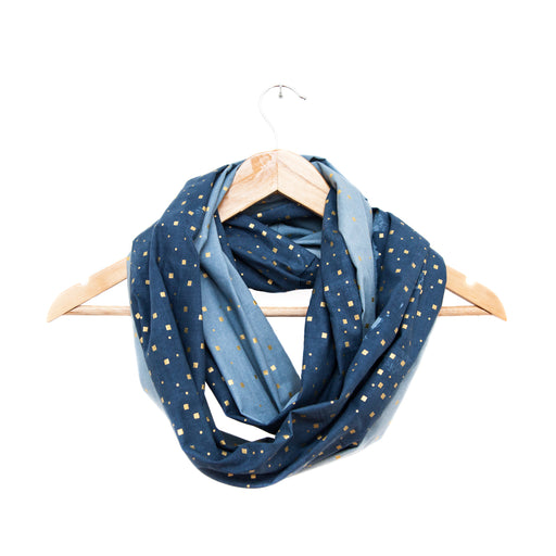 Gold Confetti Infinity Scarf