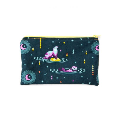 Otter Space Zippered Pouch
