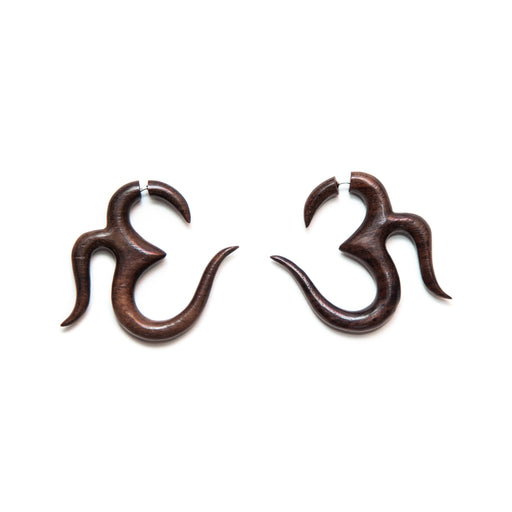 Om Fake Gauge Earrings