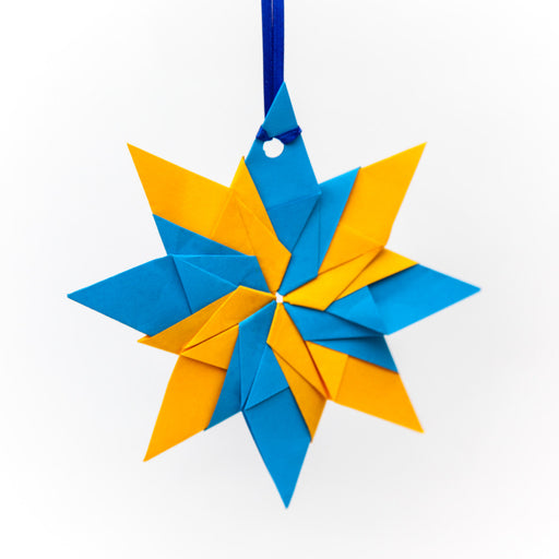 Origami Ornaments Tagged Eight Point Star Origami Ornament