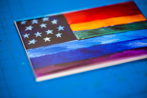 Rainbow Flag Photo Magnet