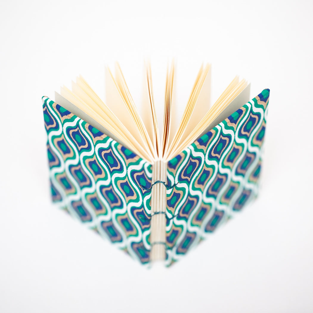 Small Peacock Blank Book