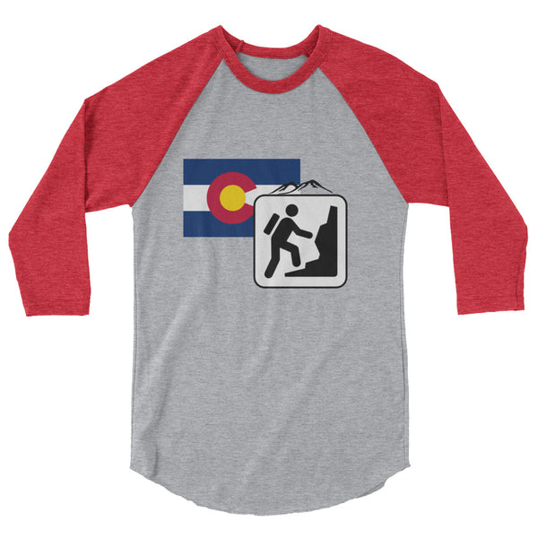 "Raglan Unisex - ""Hiking - Colorado Logo"""