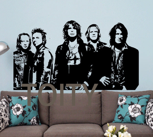 Aerosmith Wall Sticker Vinyl Decal Music Mural Dorm Teen Room Creative Decor Poster