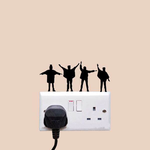 Beatles Music Fashion Bedroom Decor Wall Stickers Switch Decals Vinyl