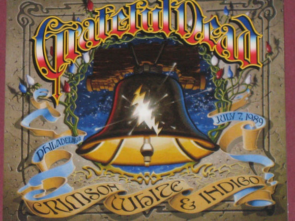 GRATEFUL DEAD - Crimson White & Indigo Album Cover Silk Poster Art Bedroom Decoration 1746