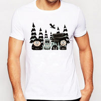 South Park Printed T-Shirt Summer Men's Fashion Short Sleeve Tee Tops