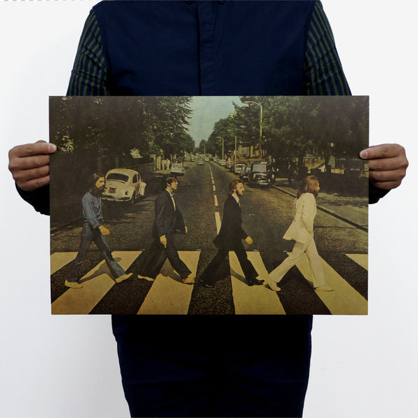 Beatles Abbey Road nostalgic rock and roll posters