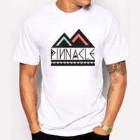 Pinnacle Design Summer Men T Shirt O-Neck Cotton