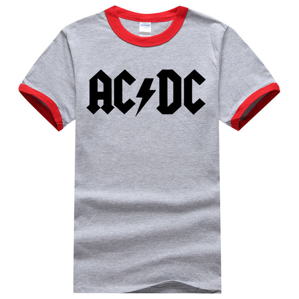 AC/DC Men Ringer T Shirt  Short Sleeve Shirt Fashion