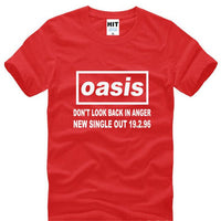 Oasis Printed T Shirts Men Summer Short Sleeve