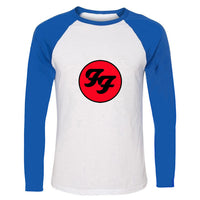 Foo Fighters Hard Rock And Roll Band Tee Shirts Soft Cotton Slim Fit Patchwork Crew Neck Tops