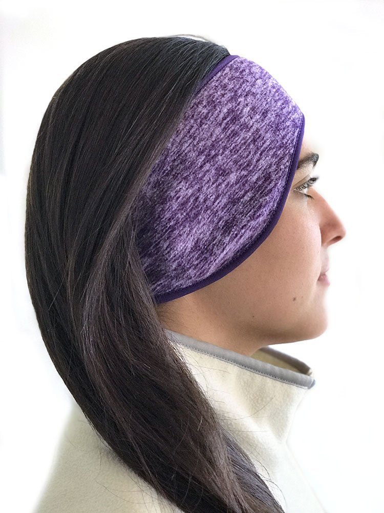 Super Cozy Thermal Ear warmers headband - Unisex - Purple