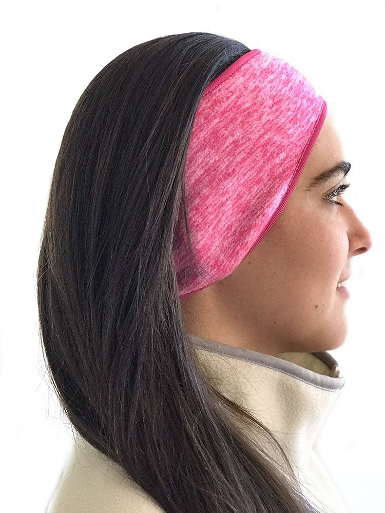 Super Cozy Thermal Ear warmers headband - Unisex  - Pink