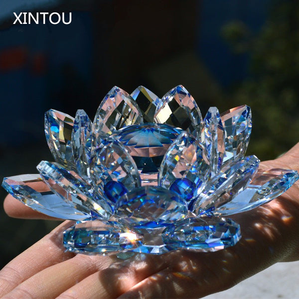 XINTOU Crystal Glass Lotus Flower