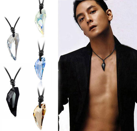 Wolf Tooth Austria Big Crystal Necklace for men