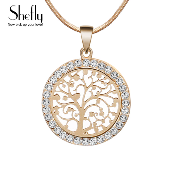 Tree Of Life Pendant Necklace Austrian Crystal
