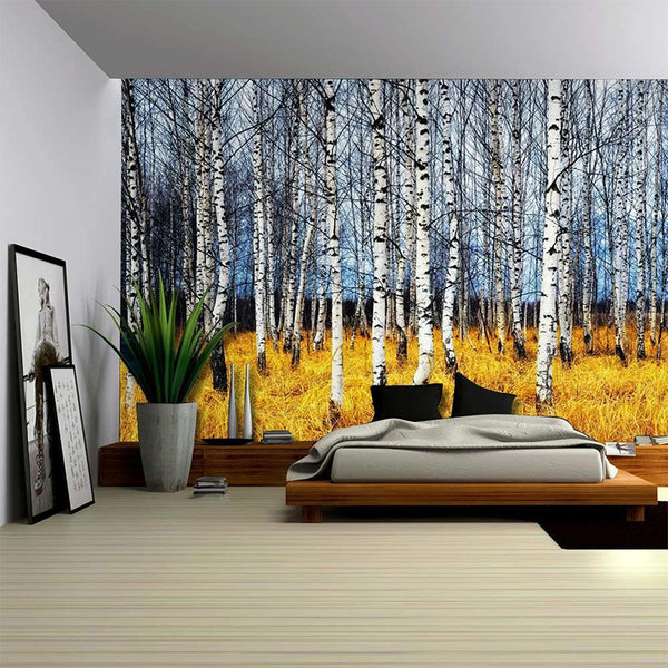 2017 new landscape wall hanging decorative tapestry Nature tree painting clothe craft background decor rectangular  tapestry/mat