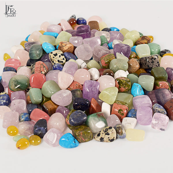 Tumbled Stone Beads and Bulk Assorted Mixed Gemstone Rock Minerals Crystals