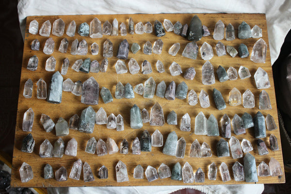 10 Pieces Natural Phantom Ghost Quartz Crystal Points