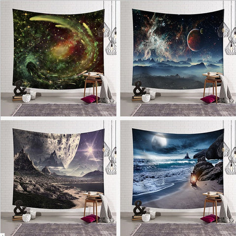 3d  Galaxy Tapestry Space Wall Tapestry for Wall Decoration Fabric Tapestry Hanging Wall Tapestries 100x150/130*150/150*230cm