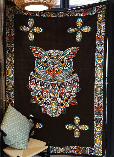 150*210cm Psychedelic Owl Tapestry