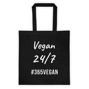 Vegan 24/7 Tote bag - #365vegan