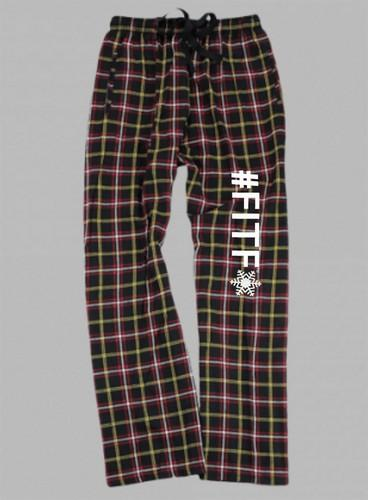 Flannel Pants -Adult- INSIDE OUT with White #FITF