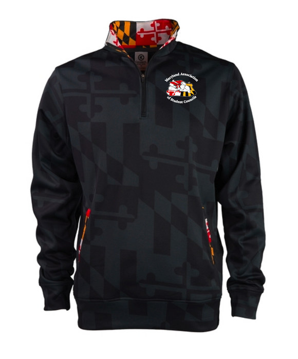 MASC Maryland Flag Printed Quarter-Zip Pullover