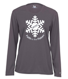Ladies Long Sleeve Performance Tee with White Flake