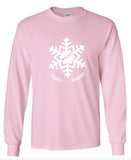 Adult Unisex Long Sleeve Tee with White Flake