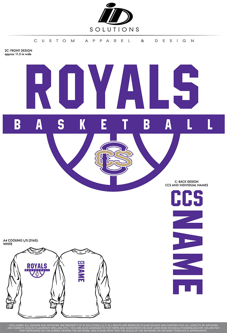 CCS ROYALS BASKETBALL- TEAM SHOOTING SHIRTS RO 20