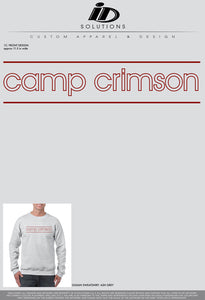 OU CAMP CRIMSON OUTLINE SWEATSHIRT 19