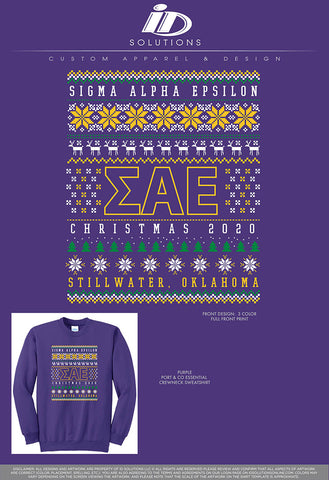 OSU SAE CHRISTMAS SWEATER 20