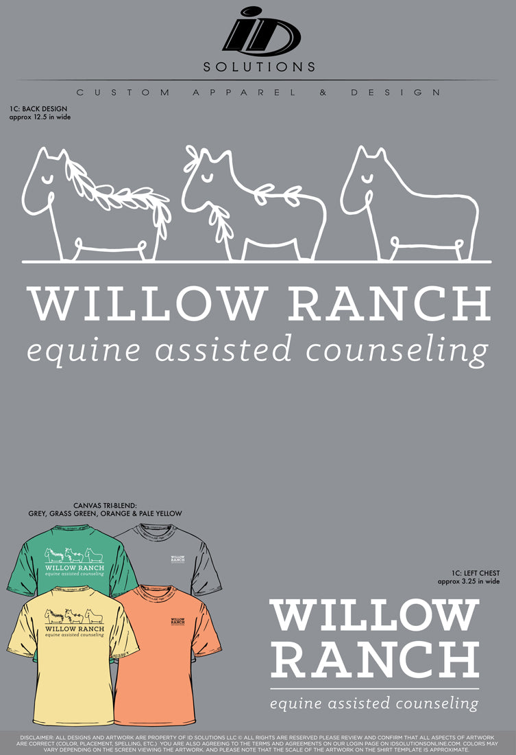 WILLOW RANCH TSHIRTS REORDER 20