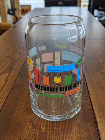 "Celebrate Diversity ""Can"" Glass"
