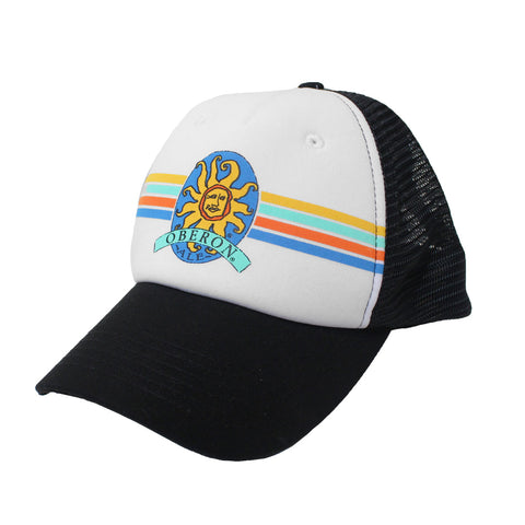Oberon Ale Striped Trucker Hat - Black/White
