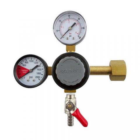 "TapRite Dual Gauge Regulator w/ 5/16"" Barb"